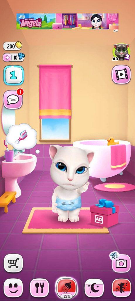 الحمام تحميل لعبة القطة المتكلمة للاندرويد