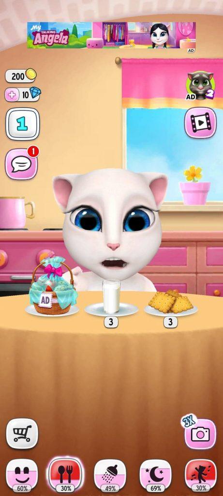 غرفة الطعام تحميل لعبة القطة المتكلمة للاندرويد