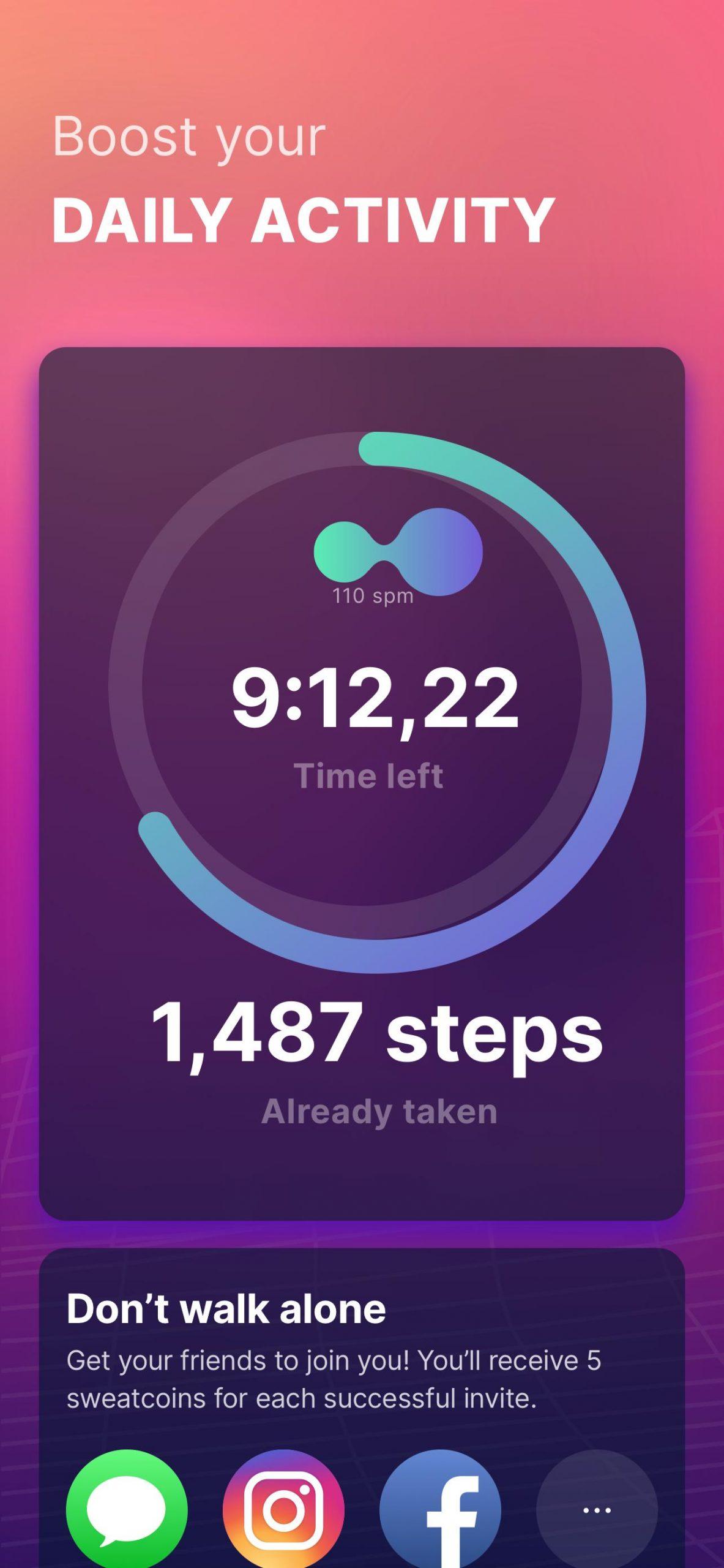 تنزيل Sweatcoin Walking Step Counter للاندرويد